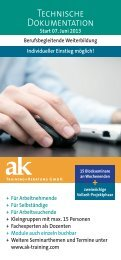 Technische Dokumentation - ak Training + Beratung GmbH