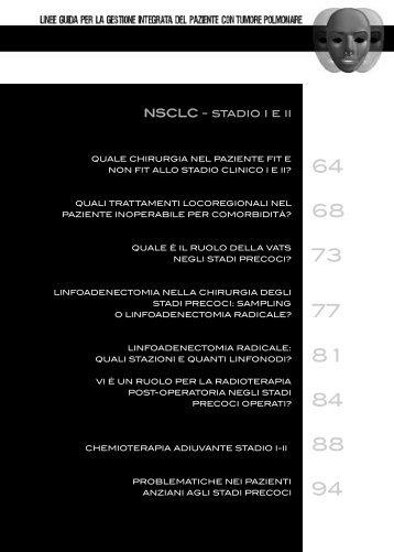 NSCLC - stadio i e ii - Associazione Italiana Oncologia Toracica