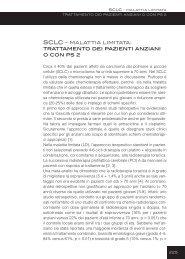 SCLC - malattia limitata: trattamento dei pazienti anziani o con ps 2