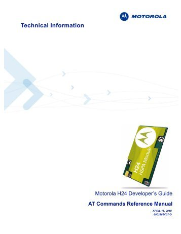 AT Commands Reference Manual - wireless netcontrol GmbH