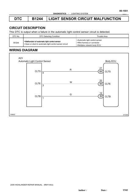 heater control circuit malfunction