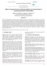 Effect of Aqueous Extract of Moringa Oleifera on Serum Protein of ...