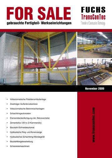 gebrauchte Fertigteil- Werkseinrichtungen www .transcontec.com
