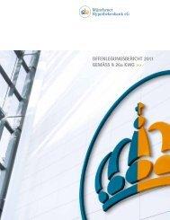 Offenlegung gemäss § 26a KWg - Münchener Hypothekenbank eG