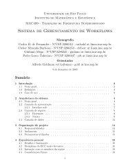 Sistema de Gerenciamento de Workflows - Rede Linux IME-USP