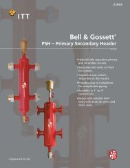 Bell & Gossett® PSH – Primary Secondary Header - Patriot Supply