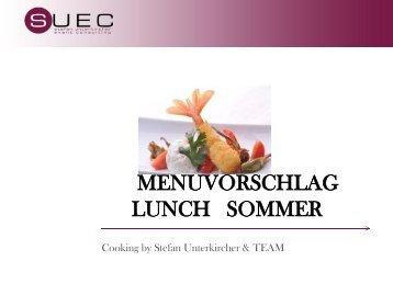 Standart- Angebot Hochzeits Catering 2012 - SUEC