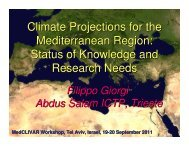 Climate Projections for the Mediterranean Region ... - Medclivar