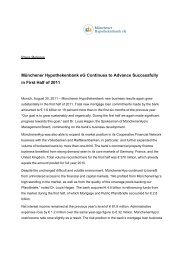 Press Release Download as PDF - Münchener Hypothekenbank eG