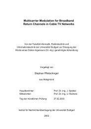 Multicarrier Modulation for Broadband Return Channels - Institut für ...