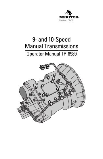 Meritor 10 speed repair manual