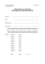 Klausur am 31.03.2008 - Organische Chemie - Christoffers