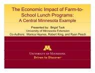The Economic Impact of Farm-to- S h l L h P School Lunch Programs: