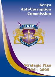 KACC Strategic Plan 2006 – 2009 - Ethics and Anti-Corruption ...