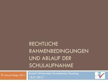 Rechtliche Rahmenbedingungen zur ... - Vs-koesching.de