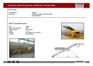 formwork system for precast- reinforced concrete stairs