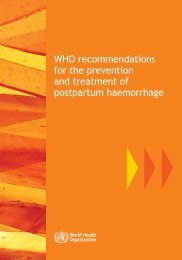 WHO recommendations - World Health Organization