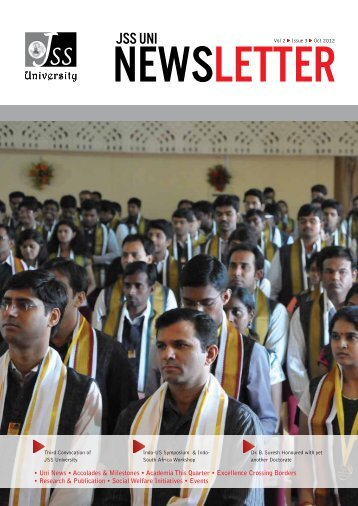 to View / Download - Newsletter - JSS University, Mysore