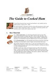 The Guide to Cooked Ham - Friedrich Ingredients