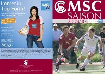 MSC Saison - Münchner Sportclub e.V. - MSC