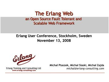 The Erlang Web - Erlang Solutions