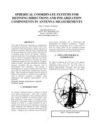SPHERICAL COORDINATE SYSTEMS FOR DEFINING ...