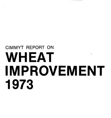 WHEAT ' IMPROVEMENT 1973 - Search CIMMYT repository