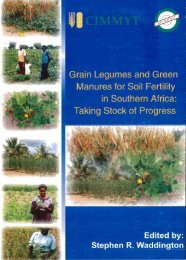 Grain Legumes and Green Manures for Soil Fertility in ... - cimmyt