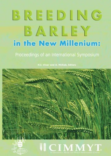 Breeding Barley in the New Millenium:Proceedings of an ...