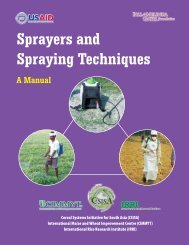 Sprayers and Spraying Techniques – A manual - cimmyt