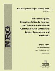 On-Farm Legume Experimentation to Improve Soil Fertility in the ...