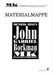 John Gabriel Borkman - Münchner Kammerspiele