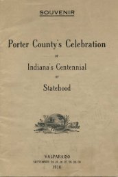 Porter County's Celebration of Indiana's Centennial