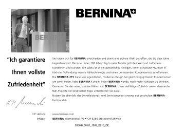 Bedienungsanleitung September 2010 (PDF, 3.2 MB) - Bernina