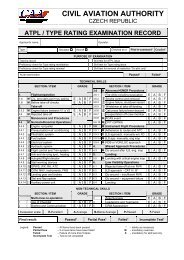 atpl / type rating examination record