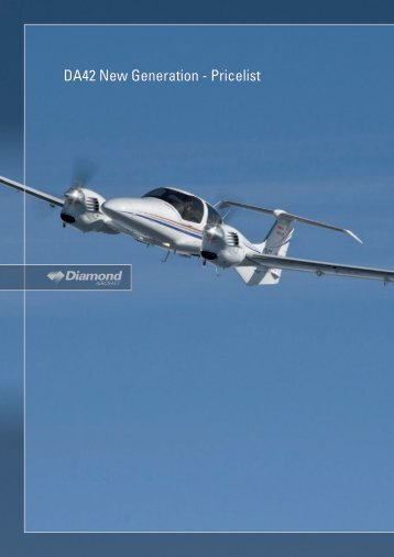 DA42 New Generation - Pricelist