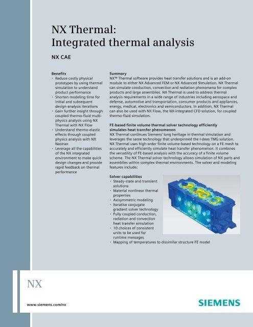 NX Thermal Fact Sheet pdf - Maya HTT
