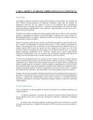 carta aberta ao brasil sobre mudanças climáticas - Vale.com
