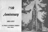 St. Paul Lutheran Church (Kouts) 75th Anniversary - Porter County ...