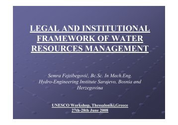 legal and institutional framework of water resources ... - inweb