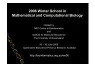 2006 Winter School in Mathematical and ... - QFAB Services