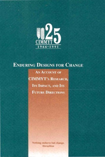 enduring designs for change - Search CIMMYT repository