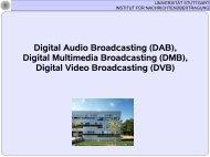 weitere Infos - Institut für Nachrichtenübertragung