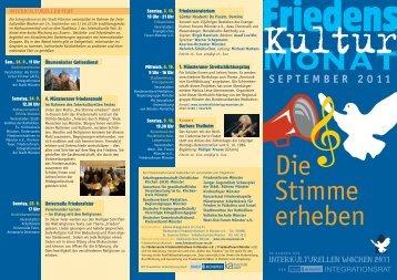 SEPTEMBER 2011 - Friedensforum Münster