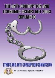 The Anti-Corruption & Economic crimes Act 2003 explained