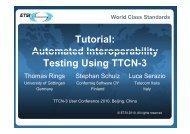 World Class Standards - TTCN-3