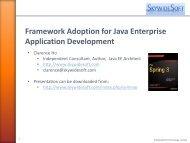 What is an enterprise Java framework?