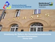 30. Oktober 2008 - und Rechnungswesen - Mecklenburg-Vorpommern