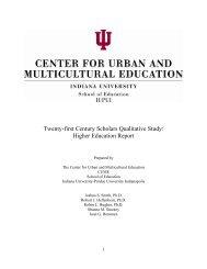 Twenty-first Century Scholars Qualitative Study: Higher Education ...
