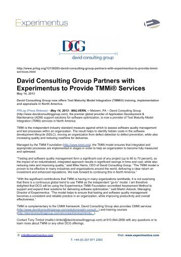 download the full press release in pdf format experimentus